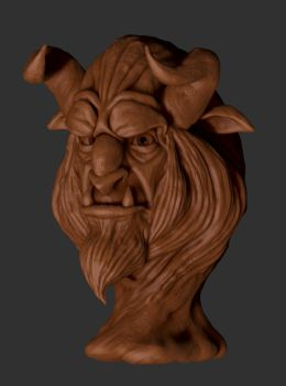 The Beast(Clay render) by shaungent