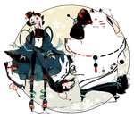 [CLOSED] ADOPT AUCTION 144 - Mabisa Shadowmonster by Piffi-adoptables