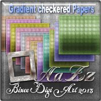 bizee Gradient checkered Papers w/ Alpha by Bizee1