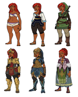 Gerudo Link Designs by HyperBali