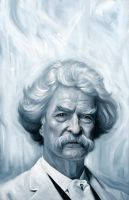 Mark Twain by carts
