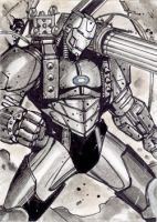 Warmachine Sketchcard by Csyeung