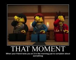 That moment... Ninjago Motivator by Rainzana