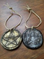 Antiqued Pentacles by ravenaudron