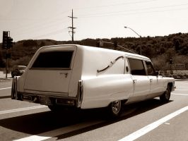 Grim Reapers Cadillac sepia BW by Partywave
