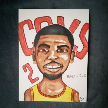 how to draw kyrie irving step by step easy