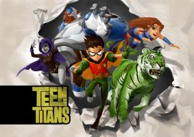 Teen Titans by Kaiz0