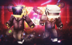 Daft Punk in Minecraft by VicTycoon