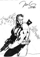 Jim Lee - Punisher by JulienHB