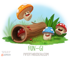 Daily Paint 1587. Fun-gi by Cryptid-Creations