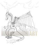Steampunk Charizard by issabissabel