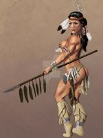 Warrior by PinUpPaintings
