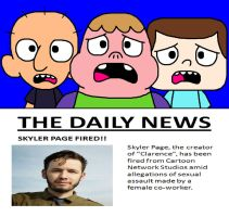Clarence and Friends' Reaction - Skyler Page Fired by ian2x4