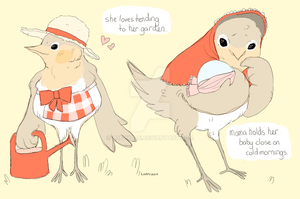do your best, bird mom. by lop-eared