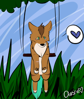 Chibi Aasha's Swing by DreamsInTheNight