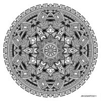 Mandala drawing 25 by Mandala-Jim