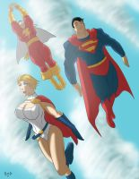 Super Friends by Sean-Loco-ODonnell