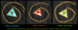 Legend of Zelda: Triforce - handcrafted Pendants by Ganjamira