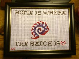 Home is where the hatch is cross stitch by TsDott