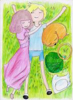 Adventure Time: green grass by hewhowalksdeath