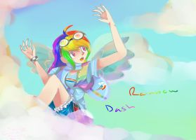 Mlp: FiM - Rainbow Dash Anime by calabogie2007