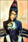 Bayonetta  cosplay portrait by Daelyth