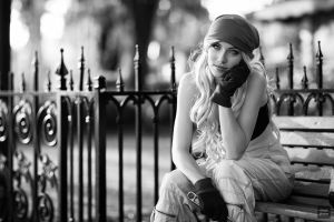 Black and White Winry by MeganCoffey