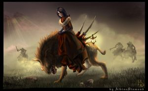 Wolf riders by AlbinaDiamond