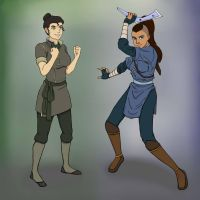 Avatar Genderbend: Sokka and Bolin by jessypet92