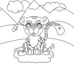 Coloring Page - Snow Leopard by The-Clockwork-Robot