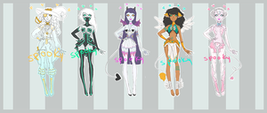 Adopts // Monstergirls 3// CLOSED by Spooktastical
