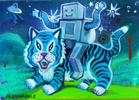 Robored Rides Blueberry Tiger by hyronomous