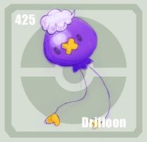 425 Drifloon by Pokedex
