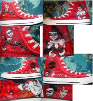 Harley Quinn Shoes by LaurenWiles