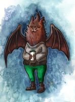 Animal people #1: Eastern Red Bat by MableTheRabbid