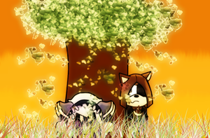 Sunset Under The Tree :AT: by UniqueMelody