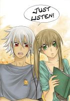 Soul Eater Doujinshi: Just Listen! - Cover by nayght-tsuki