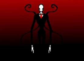 Slender Man 8-bit by Die-Laughing