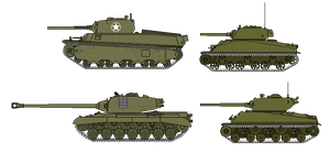 US Heavy Tanks by soundwave3591