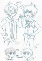 Sketch Derp - America and Kai by ArtisticDisgrace