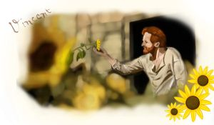 Vincent and his Sunflowers by perfectlypunky