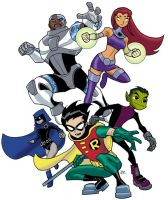 Teen Titans Animated by guinnessyde