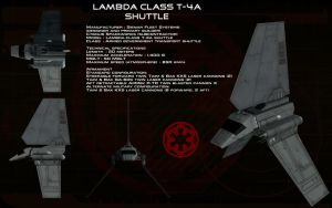 Lambda class T-4A shuttle ortho by unusualsuspex