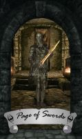 Skyrim Tarot - Page of Swords by Whisper292