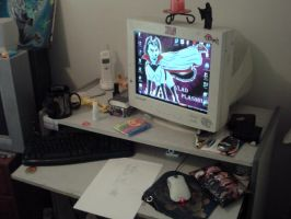 My work space by PhantomusAnalusica