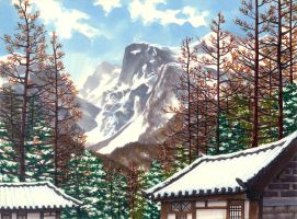 Winter in Mt. Baek doo by HUICHANG