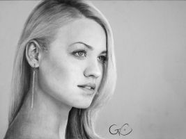 [drawing] Yvonne Strahovski by GenevieveViel