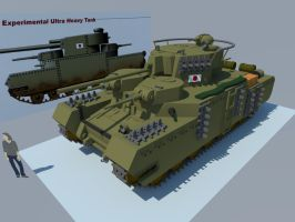 O-I Ultra heavy tank  front by Giganaut