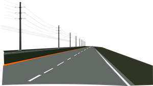 Four Lane Road and powerlines by OceanRailroader
