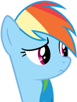 Rainbow Dash worried by Myardius